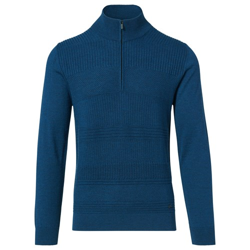 Mock Neck Zip Sweater
